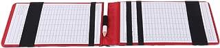 Tachiuwa Deluxe PU Leather Golf Scorecard Holder & Pencil Unisex Golfer Gift Accessories - Select Colors