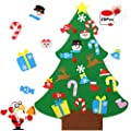 COSSCCI DIY Felt Christmas Tree for Kids Toddlers,40.5 Inches Christmas Tree with 25pcs Ornaments,Xmas Gifts, New Year Door Wall Hanging Decorations