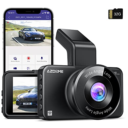 AZDOME M17 WiFi Dash Cam with APP 1080P FHD DVR Car Driving Recorder 3...