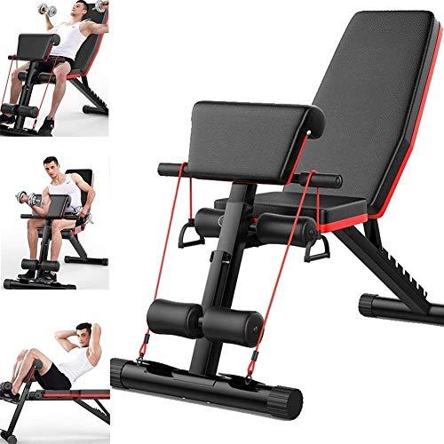 LAMTON Banco de pesas ajustable para entrenamiento en el hogar, gimnasio, levantamiento de pesas, ajustable, equipo de entrenamiento de pesas para hombres, equipo de gimnasio en casa