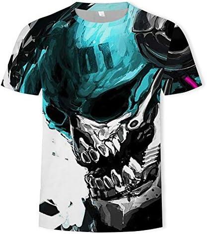 Funny Novelty Tshirt Mens Summer Tshirt met ronde hals Loose met korte mouwen 3D Printed TopA3XL