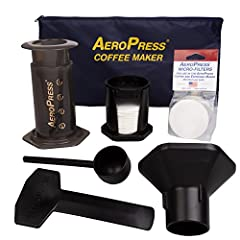 Popular with coffee enthusiasts worldwide, the patented AeroPress is a new kind of coffee press that uses a rapid, total immersion brewing process to make smooth, delicious, full flavored coffee without bitterness and with low acidity. Good-bye Frenc...