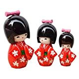 Black Temptation Muñeca Hermosa de Madera Tradicional Japonesa / Mini muñeca / Regalos /...