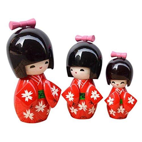Black Temptation Muñeca Hermosa de Madera Tradicional Japonesa / Mini muñeca / Regalos / decoración -A1