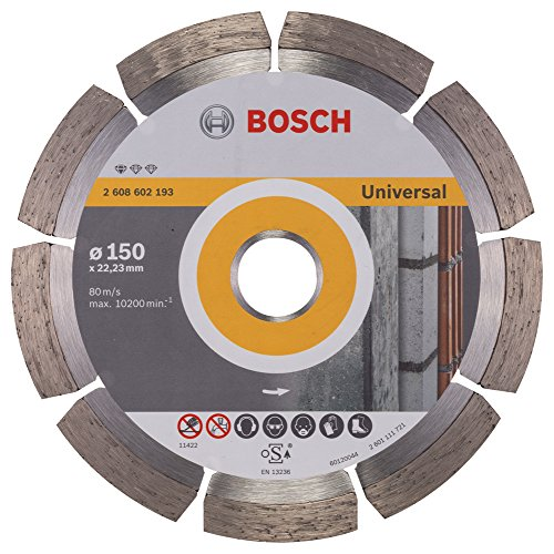 BOSCH Diamanttrennscheibe Standard für Universal, 150 x 22,23 x 2 x 10 mm, 1-er Pack, 2608602193