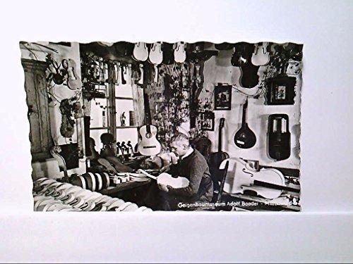 AK Mittenwald, Geigenbaumuseum Adolf Baader, Innenansicht, Geigen, Musikinstrumente, Echt Foto, Ungelaufen.