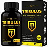 Tribulus Terrestris 2000mg Supplement | Extra Strength Saponins + Enhanced Absorption with Maca Powder & Black Pepper Extract | Tribulus Terrestris for Men & Women | 90 Vegan Capsules