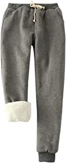 Winter Warm Women Velvet Elastic Legging Pant Fleece Lined Thick Tights, Sherpa Lined Athletic Sweatpant Jogger