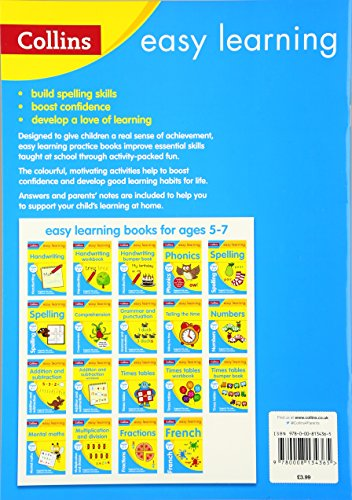 Spelling Ages 5-6: Ideal for home learning (Collins Easy Learning KS1)