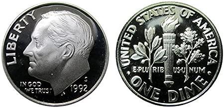 1992 S Roosevelt Proof Silver Dime 10c DCAM US Mint