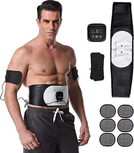 SSZZ ABS Trainer EMS Estimulador Muscular Cinturón De Gimnasio En Casa con Pantalla LCD 6 Modos 18 Niveles Equipo De Entrenamiento para Hombres Y Mujeres