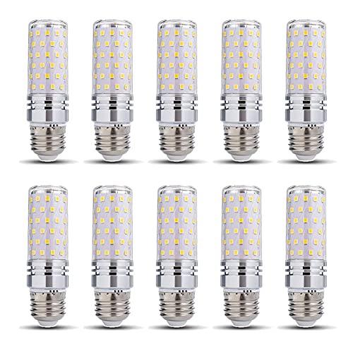 ACXLONG E27 Base 16W Bombillas LED No regulable Equivalente a 160W Halógena 1600 Lumen 110V 220V Ángulo de haz de 360 ° Lámpara de ahorro de energía Candelabro para candelabros, Lámpara de mesa Paq