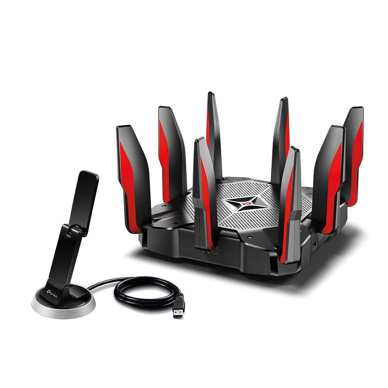 マーベル出演者コンパスTP-Link WiFi ルーター ゲーミング 無線LAN  MU-MIMO 2167 + 2167 + 1000 Mbps 3年保証 Archer C5400X +  無線LAN 子機 USB3.0 1300+600Mbps クレードル付き 3年保証 Archer T9UH