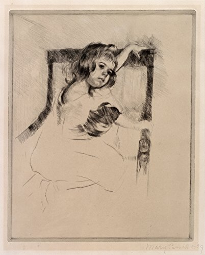 Spiffing Prints Mary Cassatt - Kneeling in an Armchair - Small -...