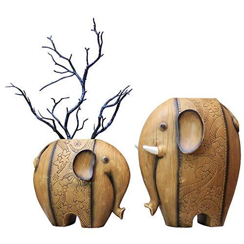 Tokyia Decoraciones del Arte del Arte Elefante decoración florero de Regalo salón Ventana de Caja de la Consola gabinete del Vino Estudio Decoraciones para el hogar