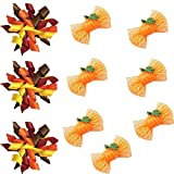 Yagopet 20pcs/pack Dog Hair Bows Halloween Designs Dog Curves Bows and Pumpkin Halloween Bows with Rubber Bands Dog Topknot Bows Pet Dog Grooming Bows Supplies Dog Hair Accessories by yagopet