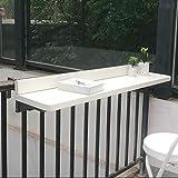 YYHJ Outdoor Balcony Hanging Folding Table,...