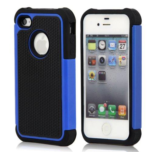 Lapinette Cover Compatibile con Apple iPhone 5-5S Antiurto - Custodia iPhone 5-5S Protezione Antiurto - Protezione Apple iPhone 5-5S Cover Antiurto Robusta Modello Spider Blu