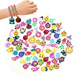 Senhui 100 Pcs Silicone Bracelet Charms Colorful bracelet charms rubber band Bracelet Making Kit for necklace DIY Charm Bracelets for Kids