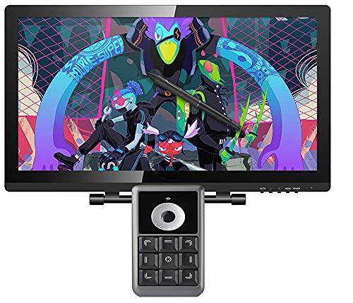 Xyfw Pantalla De Lápiz De Dibujo con Soporte Ajustable Y Teclado Monitor Gráfico De 21,5 Pulgadas Tableta Digital 1920X1080 FHD
