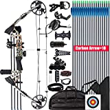 XGeek Compound Bow and Arrow kit, Hunting & Target Bow, with All Accessories, USA-Made Limbs, Draw Weight Adjustable 20-70 Lbs, Draw Length 17-29