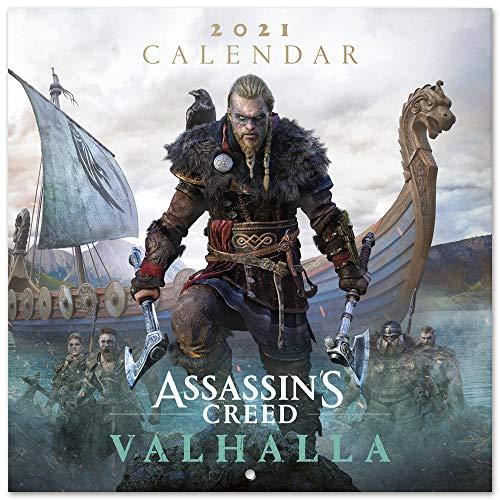 ERIK - Calendario de pared 2021 Assanssins Creed, 30x30 cm, Producto Oficial