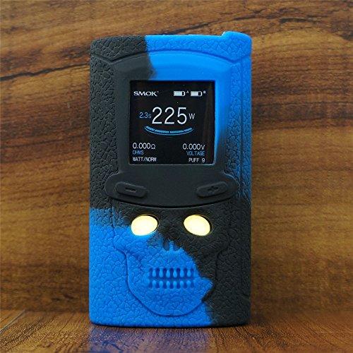 ModShield for SMOK S-Priv 225W TC Silicone Case ByJojo S Priv 225 W Skin Cover Sleeve Shield Wrap (Blue/Black)