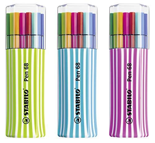 Premium-Filzstift - STABILO Pen 68 - 15er Single-Pack - mit 15 verschiedenen...