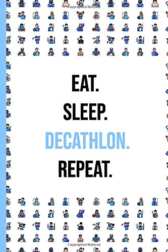 Decathlon: Sport Journal / Notebook   6x9 inch - Lined Paper - 120 Pages   Perfect Gift for Gym rat & fitness freak