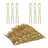 U Shaped Hair Pins,TsMADDTs Bun Hair Pins for Blonde with Box,100pcs (Golden 2.4 inch)...