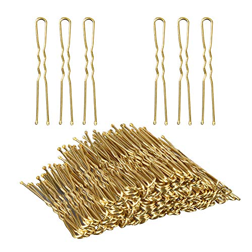 U Shaped Hair Pins,TsMADDTs Bun Hair Pins for Blonde with Box,100-count (Golden 2.4 inch)