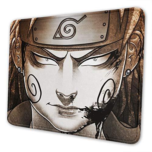 Naruto Akimichi - Alfombrilla de ratón para ordenador portátil, bordes cosidos para oficina, 8,3 x 10,3 pulgadas