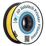 3D Solutech Real Yellow 3D Printer PLA Filament 1.75MM Filament, Dimensional Accuracy +/- 0.03 mm, 2.2 LBS (1.0KG)