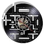 Reloj de Vinilo de 12' Videojuego Vintage Reloj de Pared Hecho de Disco de Vinilo para Kid Room Gamer Home Decor Retro...