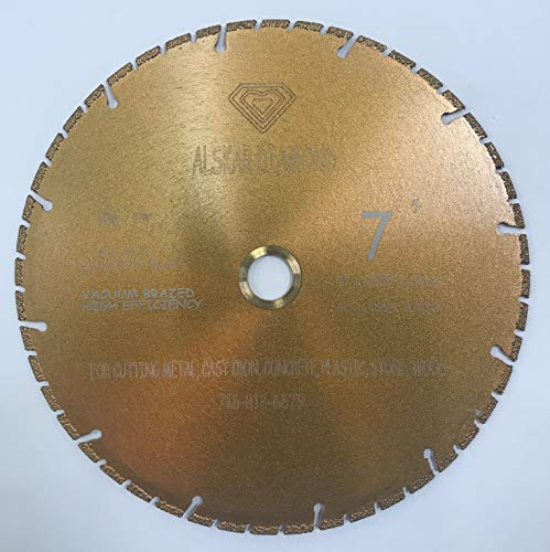 VORTEX DIAMOND VPVM 7 inch All Purpose Metal Cutting Dry or Wet Cutting Segmented Diamond Blades for Metal and Plastic Materials (7