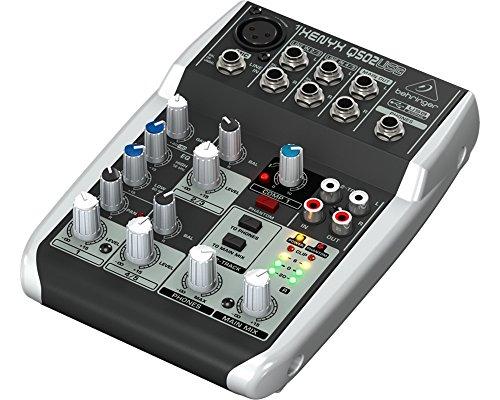 Behringer Q502 USB Mezclador pasivo interfaz de audio para karaoke, en...