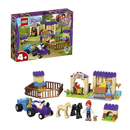 LEGO Friends LaScuderiadeiPuledridiMia con la Mini-doll diMia,le Figure di 2 Cavallini e del Coniglio,un Trattore con Rimorchio,Fattoria Giocattolo per Bambini, 41361