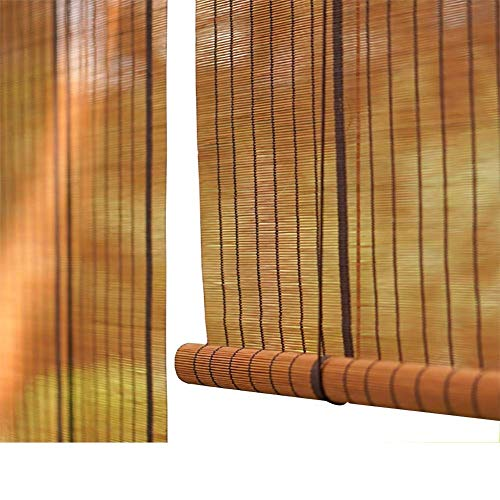 TINGTING Contraventanas, Persianas Enrollables De Bambú Instalación Interna Externa Ventana Persiana Hecha A Mano Instalación De Punzón Tejido (color : Madera, Tamaño : 70 * 120)