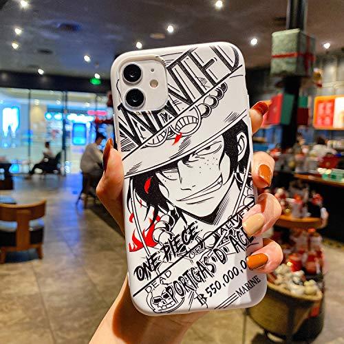FUTURECASE Anime - Carcasa de TPU suave para iPhone 6, 6S, 7, 8 Plus, 12, 11, Pro Max Mini X, XR, XS Max SE 2020 Nami Sombrero de paja (1, iPhone 12 Pro)
