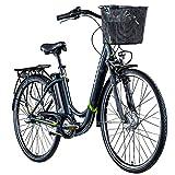 E Damenrad 700c E-Bike Pedelec Zündapp Z510 Citybike Elektrofahrrad 28' Fahrrad (grau/grün, 48 cm)