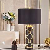 LFK Lámpara de mesa de cerámica de lujo Nordic Light para dormitorio, lámpara...