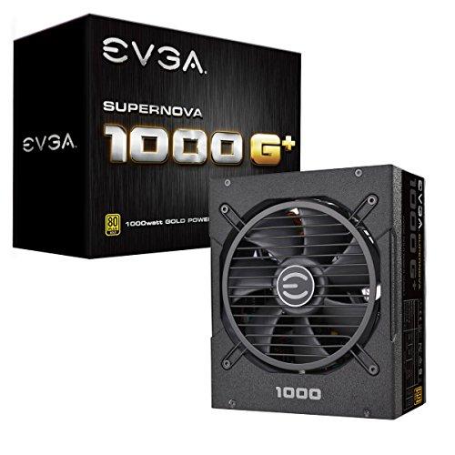EVGA SuperNOVA 1000 G1+, 80 Plus Gold 1000W, Fully Modular, FDB Fan, 10 Year Warranty, Includes...