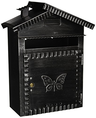 Vigor Blinky 27340-20 brievenbus, gietijzer, antieke look, 22 x 12 x 35 cm
