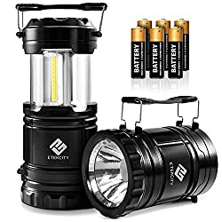 Etekcity 2 Pack LED Camping Lantern Battery Powered Flashlights Portable...