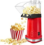 Popcorn Maker, 1200W Popcorn Machine, Popcorn Popper with for Home, Family and Party, No Oil Need Hot Air Popper Popcorn Maker
