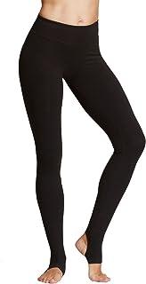 DeepTwist Women's Mesh Yoga Pants Full Length Barre Stirrup Leggings Active Gym Workout Running Tights