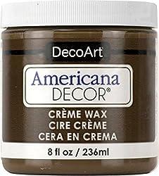 professional Deco Art ADM8-07-36 Americana Decoration Cream Wax, 8 oz, Dark Brown
