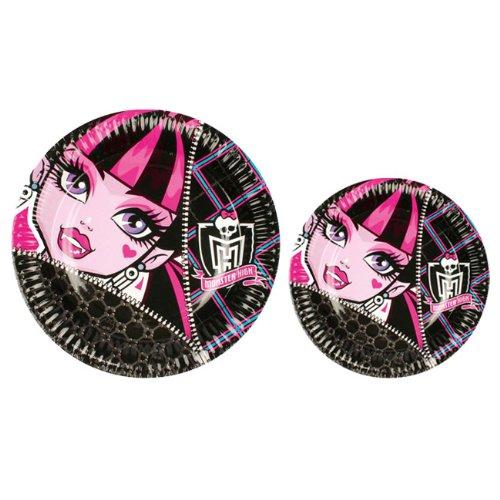 8 Assiettes Monster High - 18 cm - Anniversaire Enfant - Goûter enfant