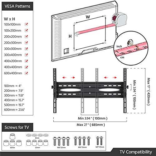 Yaheetech Supporto TV da Pavimento Carrello Porta TV da 32 a 65 Pollici con Ruote Portata 50 kg Industriale VESA 600 x 400 mm 3 Vassoi Altezza Regolabile Gestione di Cavi Nero