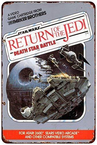 Isaric Tin Sign Star Wars Return of The Jedi Atari 2600 Vintage Reproduction Metal Sign 8 x 12